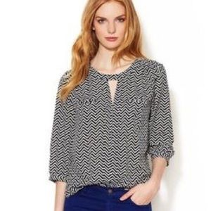 NWOT French Connection chevron top sz 10